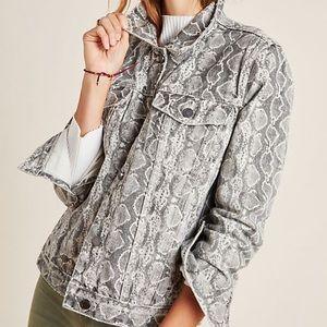 BLANKNYC snakeskin print denim jacket